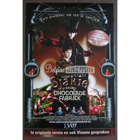 charlie and the chocolate factory belgian movie poster store