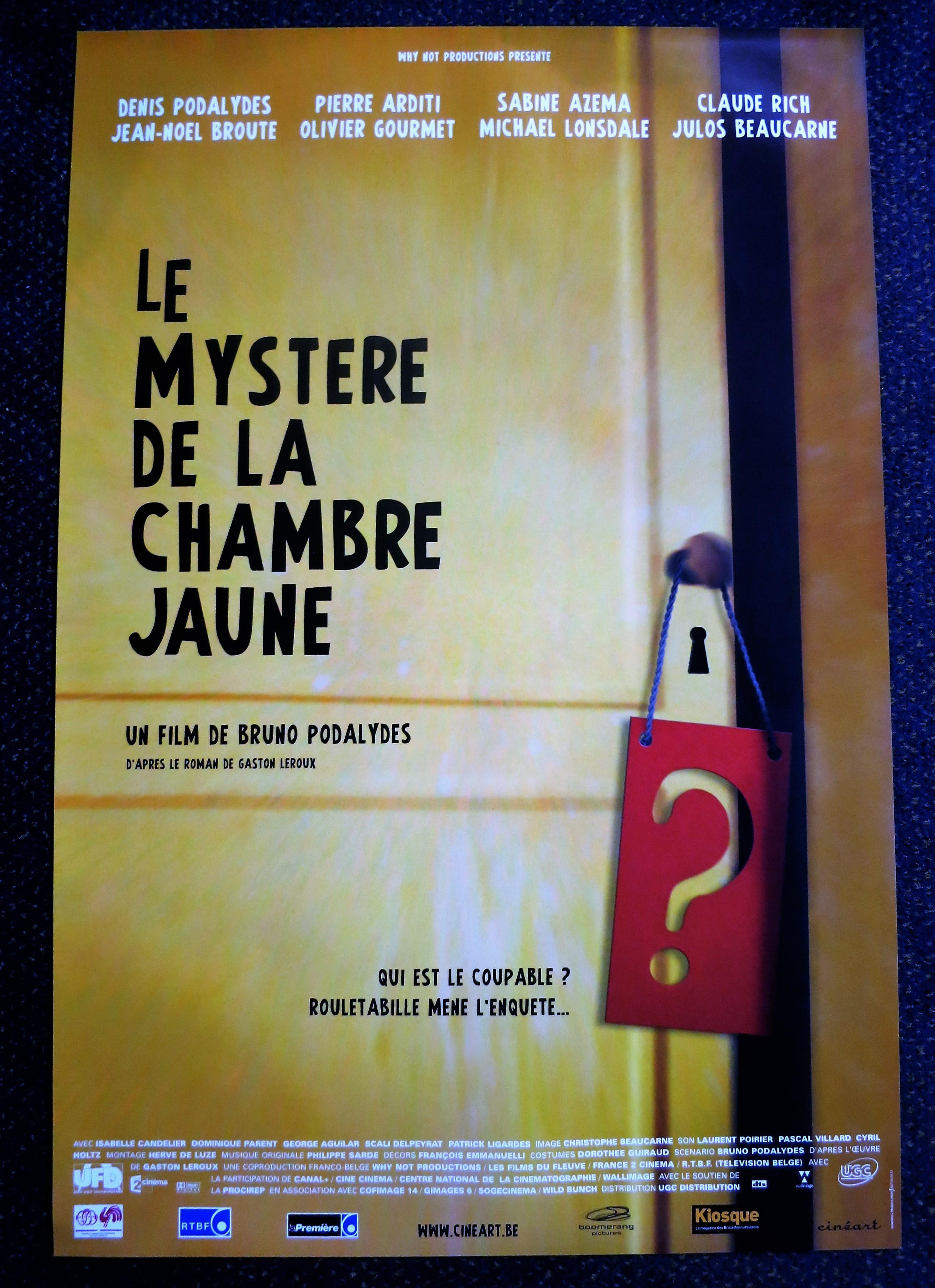 MYSTERE DE LA CHAMBRE JAUNE Belgian Movie Poster Store