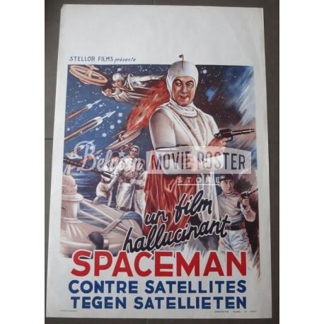 SPACEMAN AGAINST SATELLITES