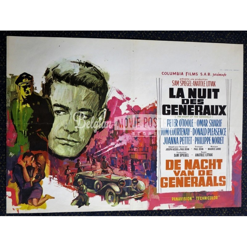 night of the generals belgian movie poster store